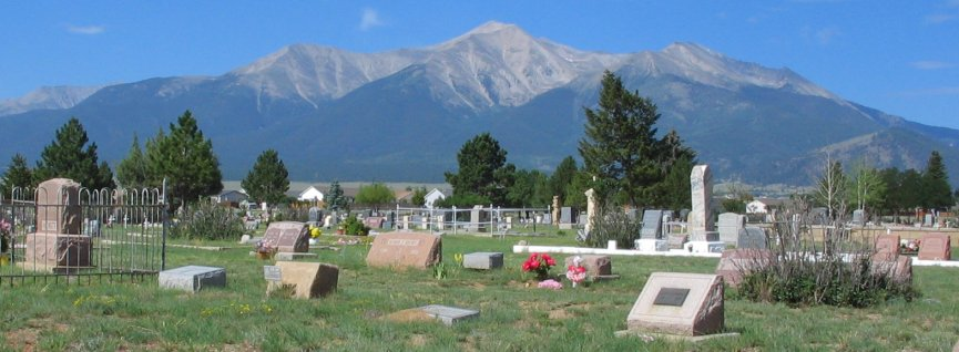 Mt. Olivet Cemetery In Buena Vista, Colorado