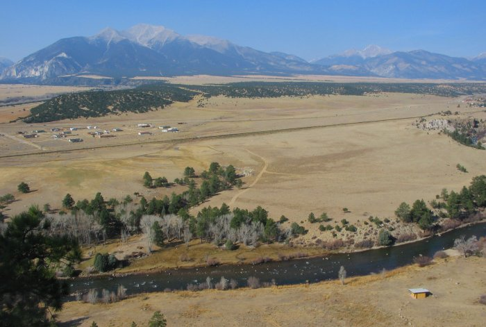 Mt. Princeton and Arkansas River